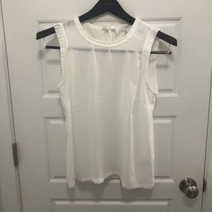 NWT J. Crew Factory Sleeveless Top w/ Pleated Trim